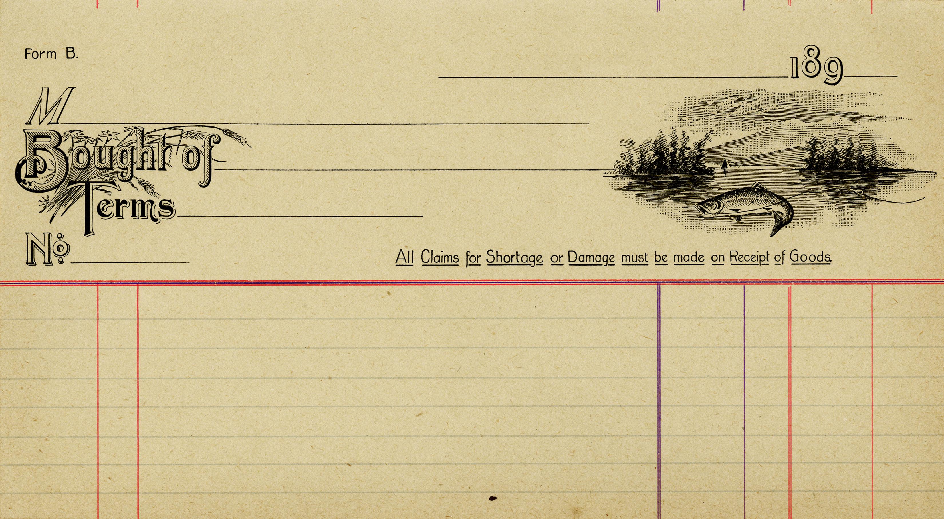 invoice, old invoice digital, vintage receipt, printable ephemera free ...