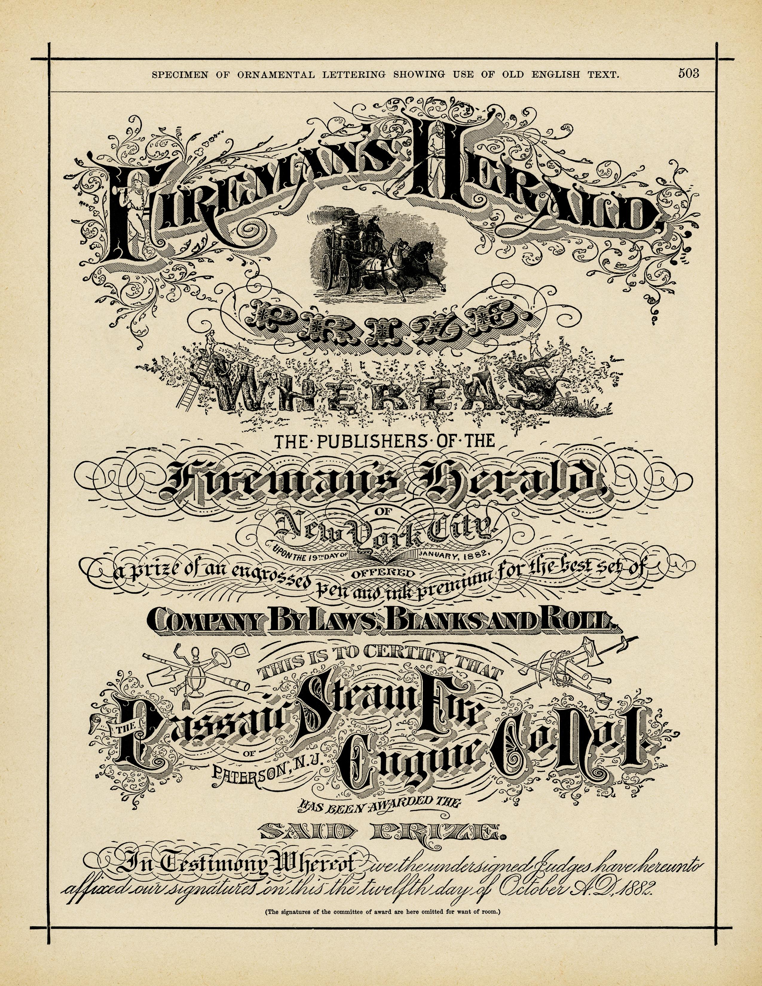 ornamental typography specimen free vintage graphic old design shop blog
