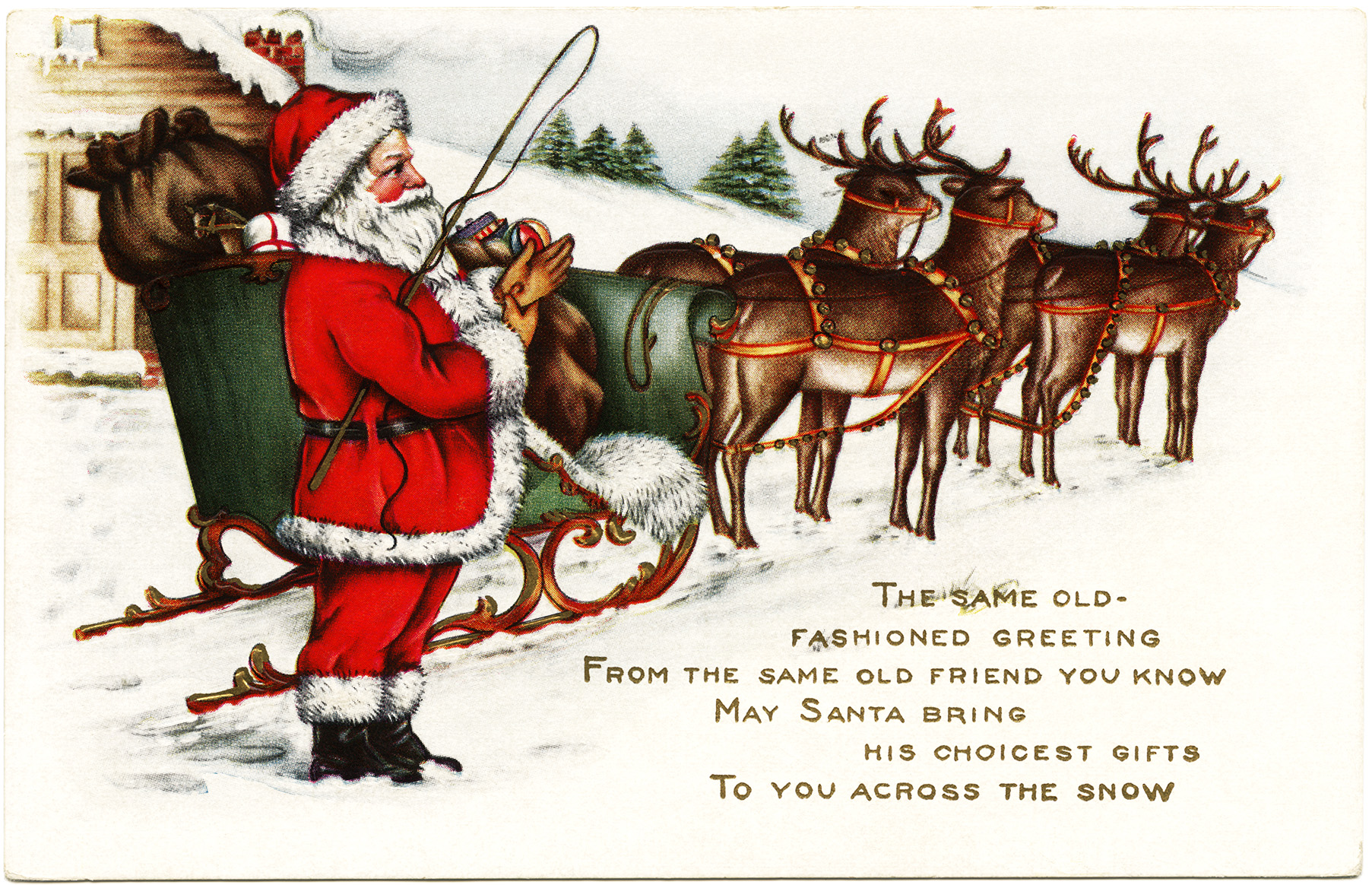 santa sleigh and reindeer clip art Car Pictures