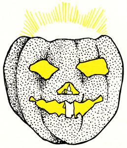Halloween pumpkin clip art, vintage halloween illustration, spooky pumpkin graphic, glowing carved pumpkin, jack o lantern clip art free