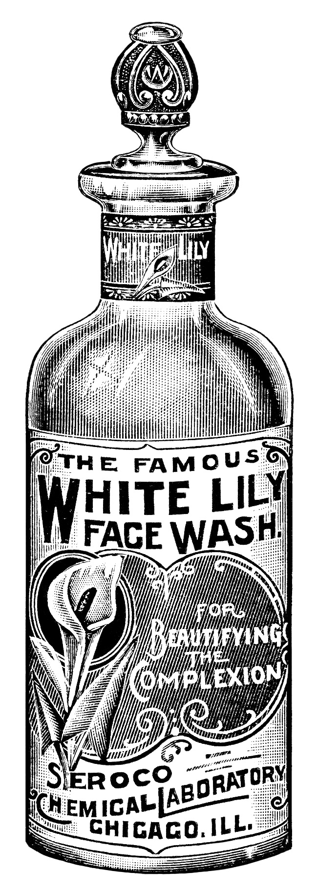 White Lily Face Wash ~ Free Vintage Clip Art | Old Design ...