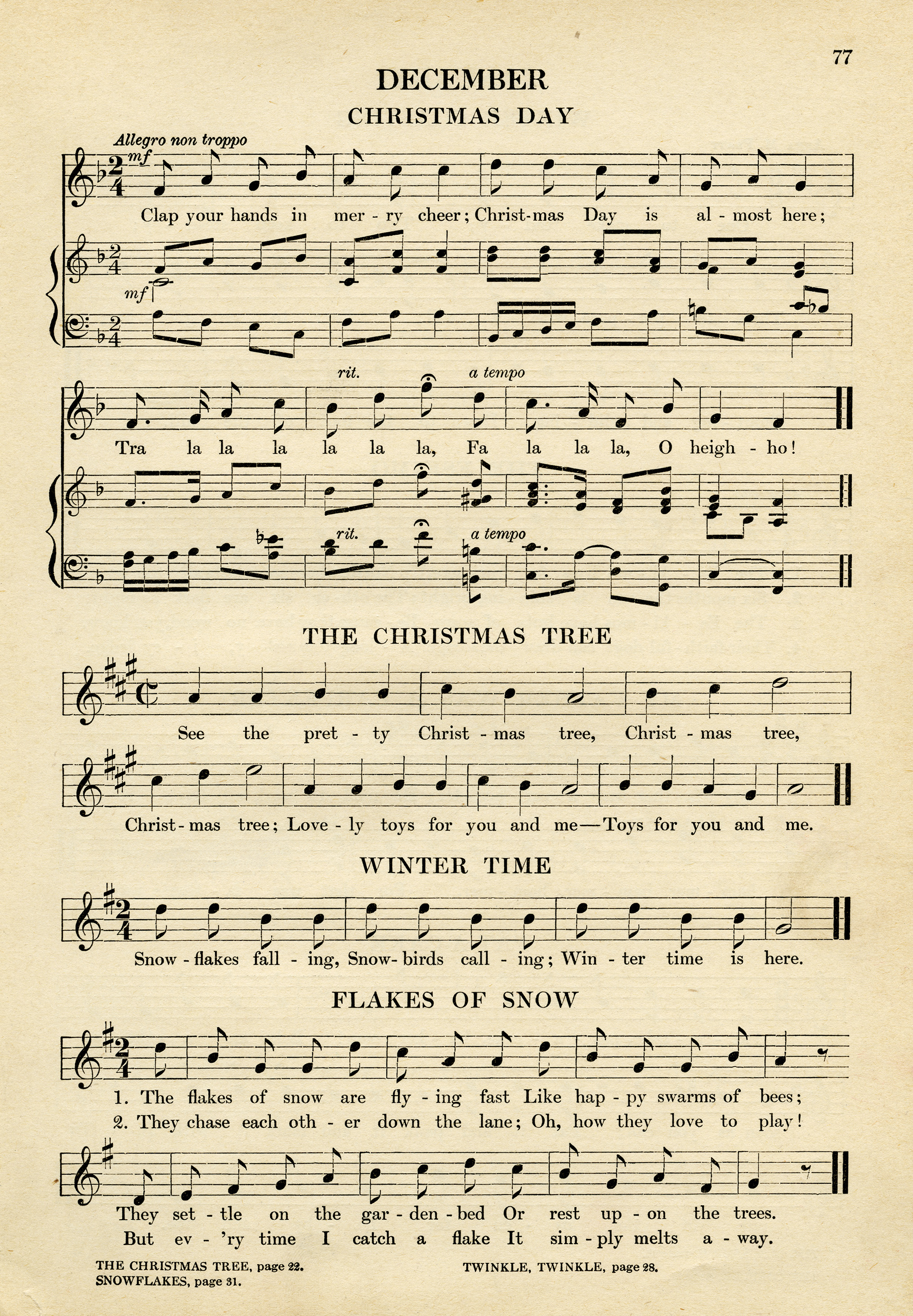 christmas sheet music | Old Design Shop Blog