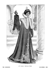 Victorian lady, black and white clip art, Victorian fashion image, antique womens clothing, vintage fashion illustration