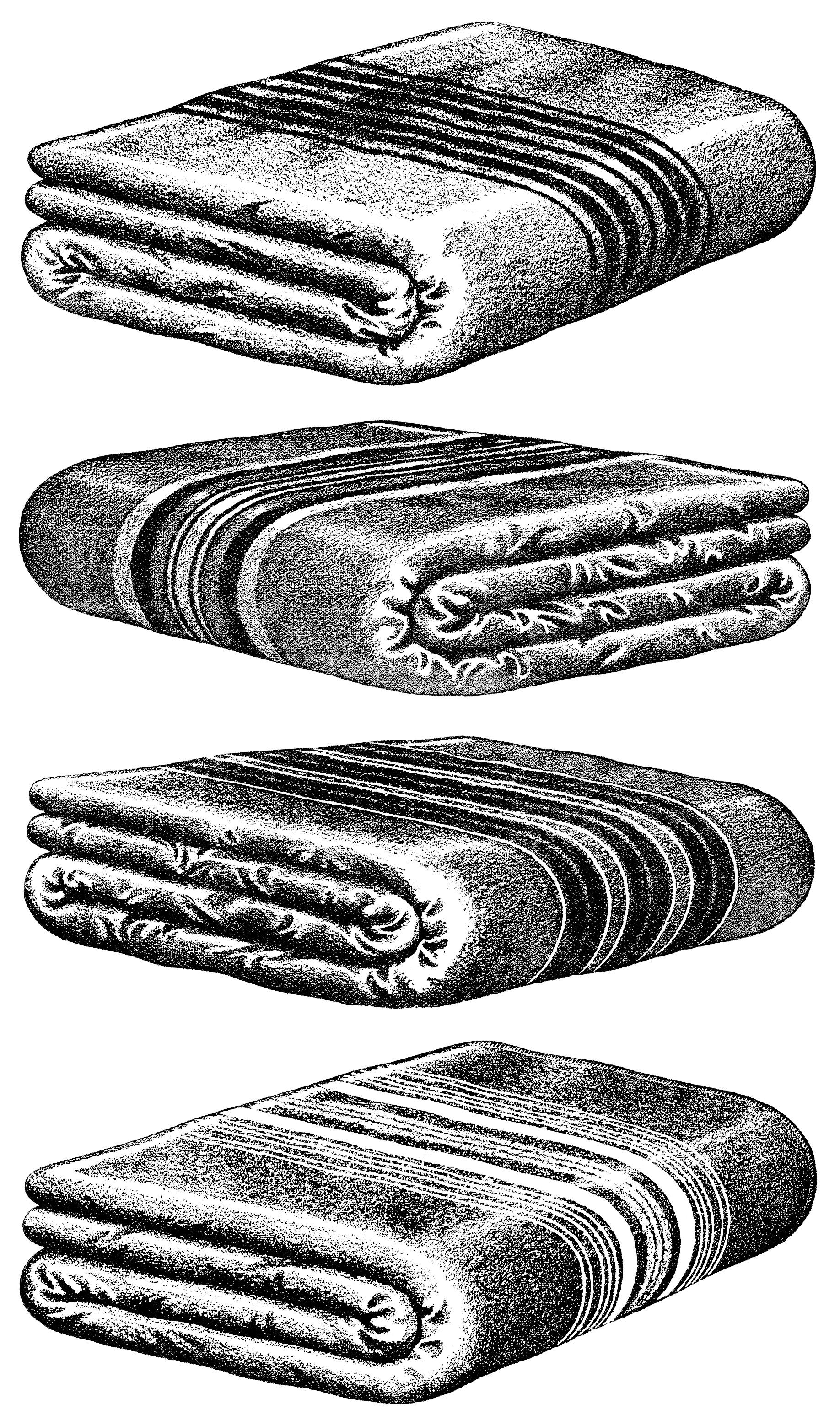 Warm Wool Blankets Clip Art
