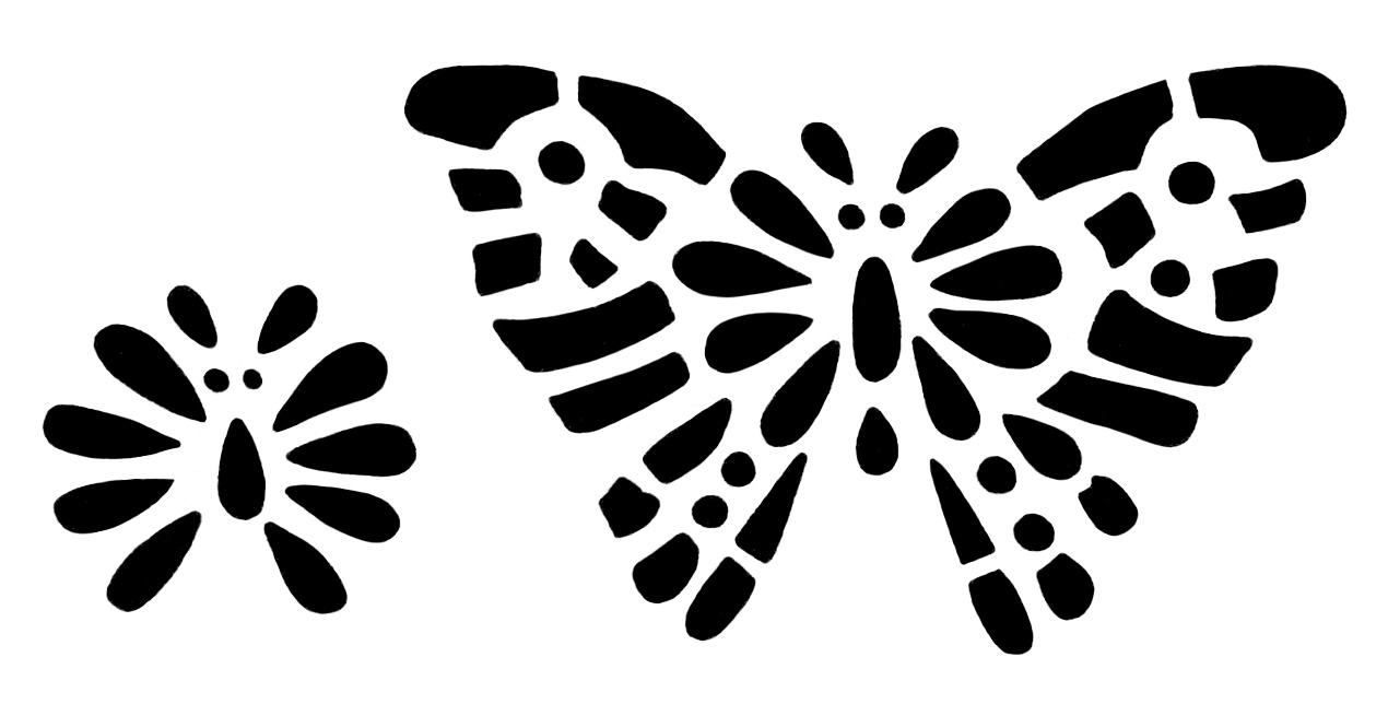 butterfly stencil clip art old design shop blog