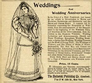 antique magazine ad, free black and white illustration, vintage bride clipart, vintage butterick advertisement, antique wedding graphics