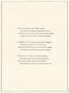 Kate Greenaway, Happy Days, vintage storybook image, printable vintage poem, mother and child clipart, old book page, Marigold Garden