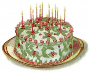vintage cake clip art, birthday cake illustration, vintage baking clip art, frosting icing recipe, antique cookbook page, junk journal printable