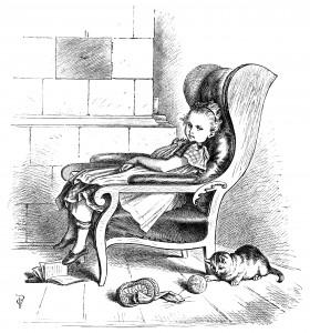 Oscar Pletsch, black and white graphics, bored girl clip art, vintage storybook illustration, Idle Pletsch engraving