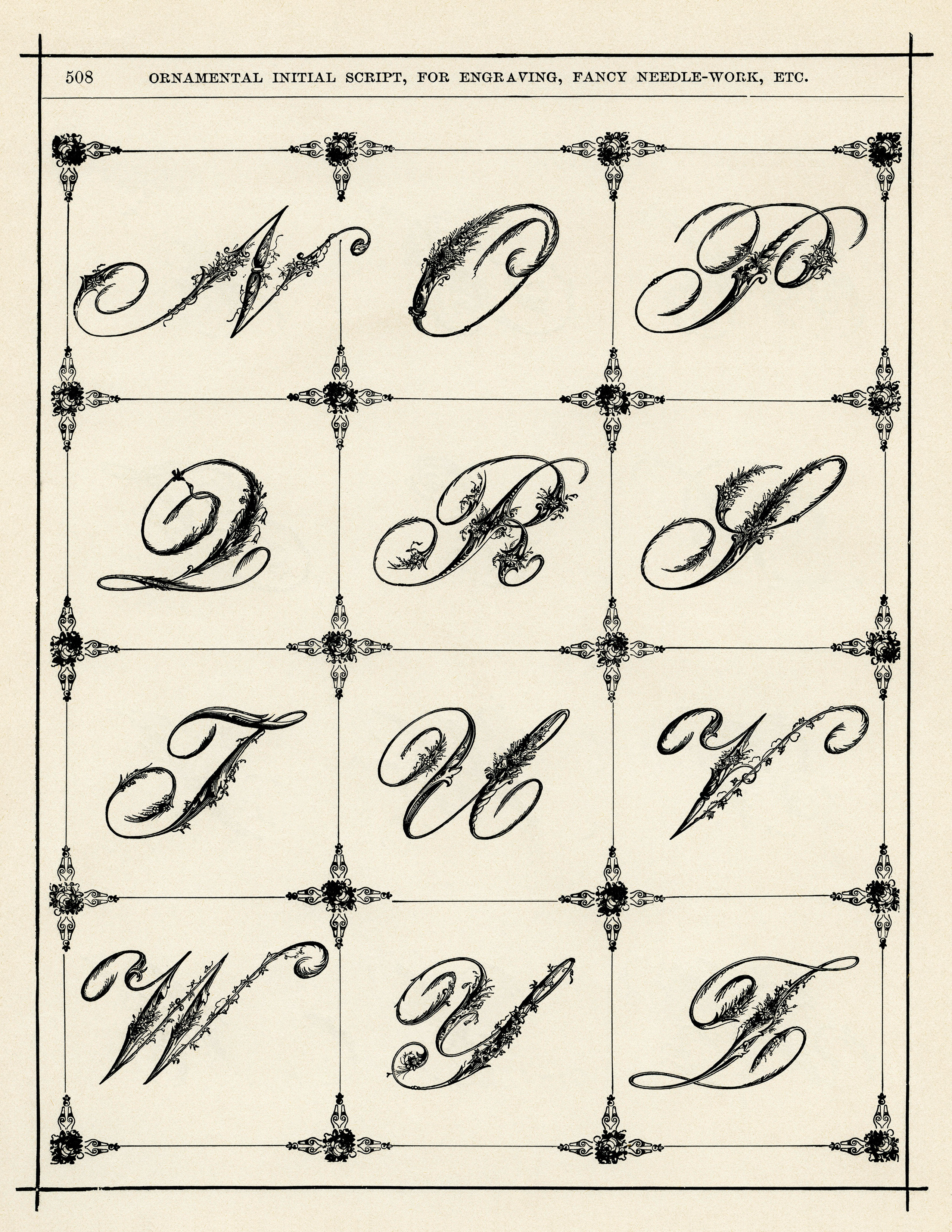 Ornamental Victorian Script Alphabet Old Design Shop Blog