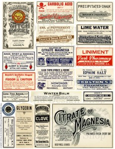 vintage poison label, digital collage sheet, old pharmay label, antique medical label