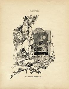 old father christmas, vintage illustration, old fashioned santa, holiday fun mcloughlin bros 1900, free digital printable graphics, old design shop