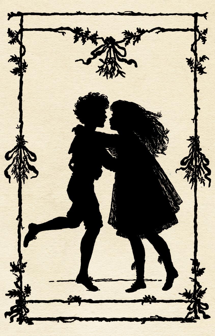 Silhouette of Children Dancing