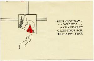 retro christmas greeting card, public domain christmas card, free printable, digital download, free vintage clipart, red black beige christmas
