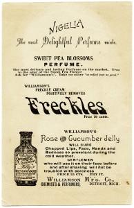 Free vintage perfume trading card digital