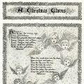 Free vintage clip art Christmas song cherub illustration
