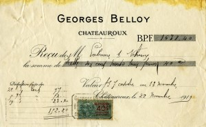 Free vintage clip art French invoice Georges Belloy