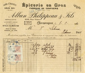 Free vintage clip art French invoice Alban Philippeau Fils