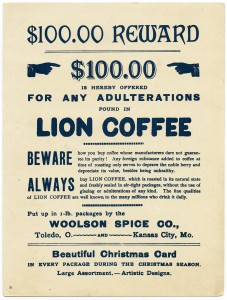Free vintage clip art ephemera Lion Coffee Victorian card