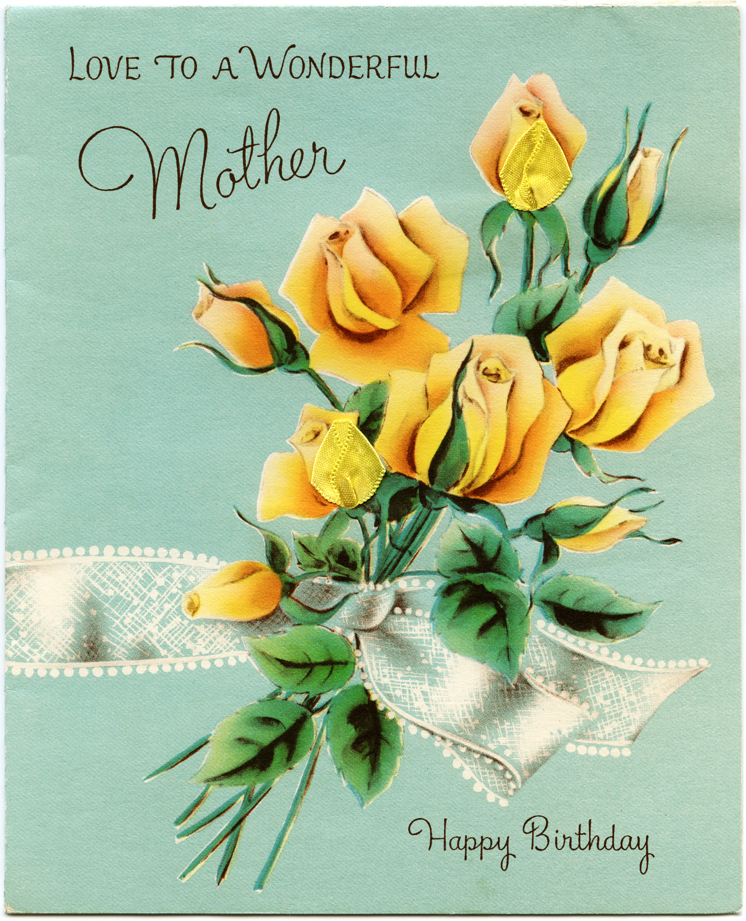 Vintage Mothers Birthday Greeting Card Old Design Shop Blog