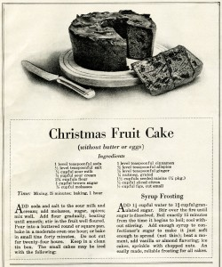 Christmas fruit cake recipe, digital download fruitcake recipe, public domain recipe, vintage Christmas cake recipe, vintage recipe