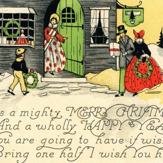 Free printable Victorian Christmas card digital