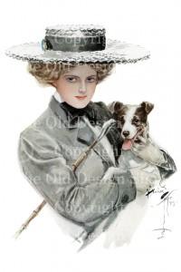 harrison fisher, isn't he sweet, victorian lady, jack russell