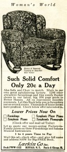 Free vintage chair magazine ad clip art