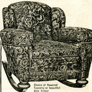 Free vintage rocking chair magazine ad clip art