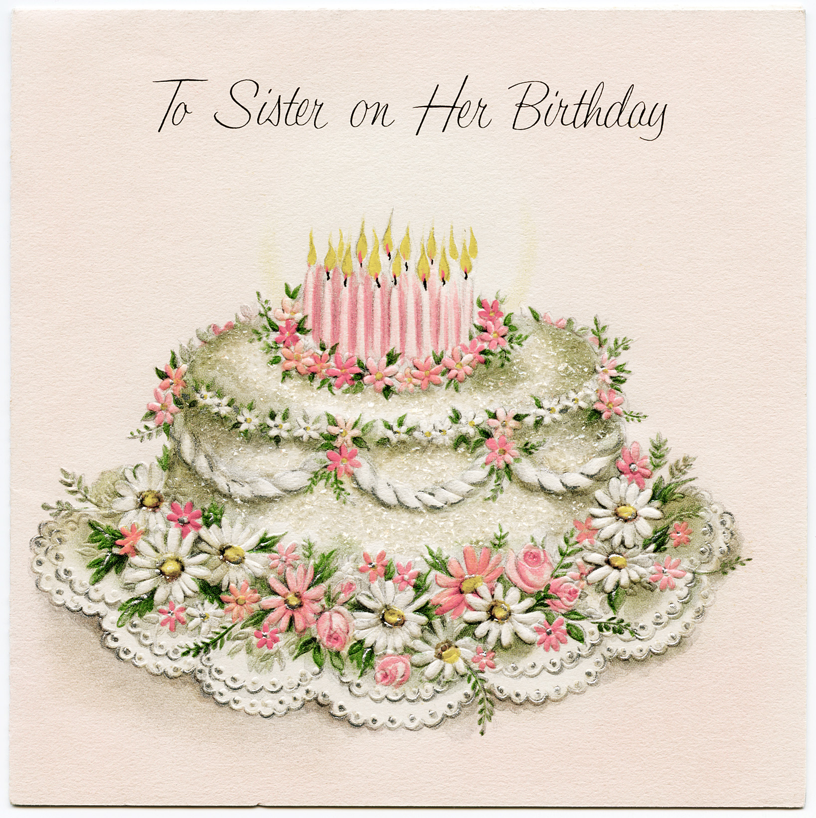 Vintage Sister Birthday Greeting Card Old Design Shop Blog