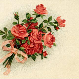 Free vintage clip art roses tag