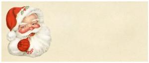 Free vintage clip art santa tag
