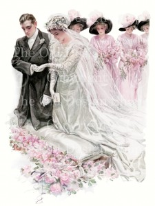harrison fisher, the wedding, vintage image