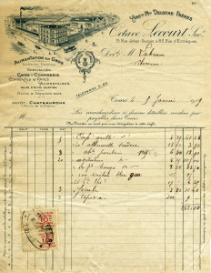 Free vintage clip art French invoice