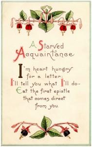 free vintage digital card, vintage flower graphics, a starved acquaintance, old fashioned valentine
