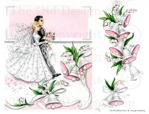 New Digital Collage Sheet In My Etsy Shop Wedding Greeting Card