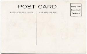 Free vintage clip art postcard back
