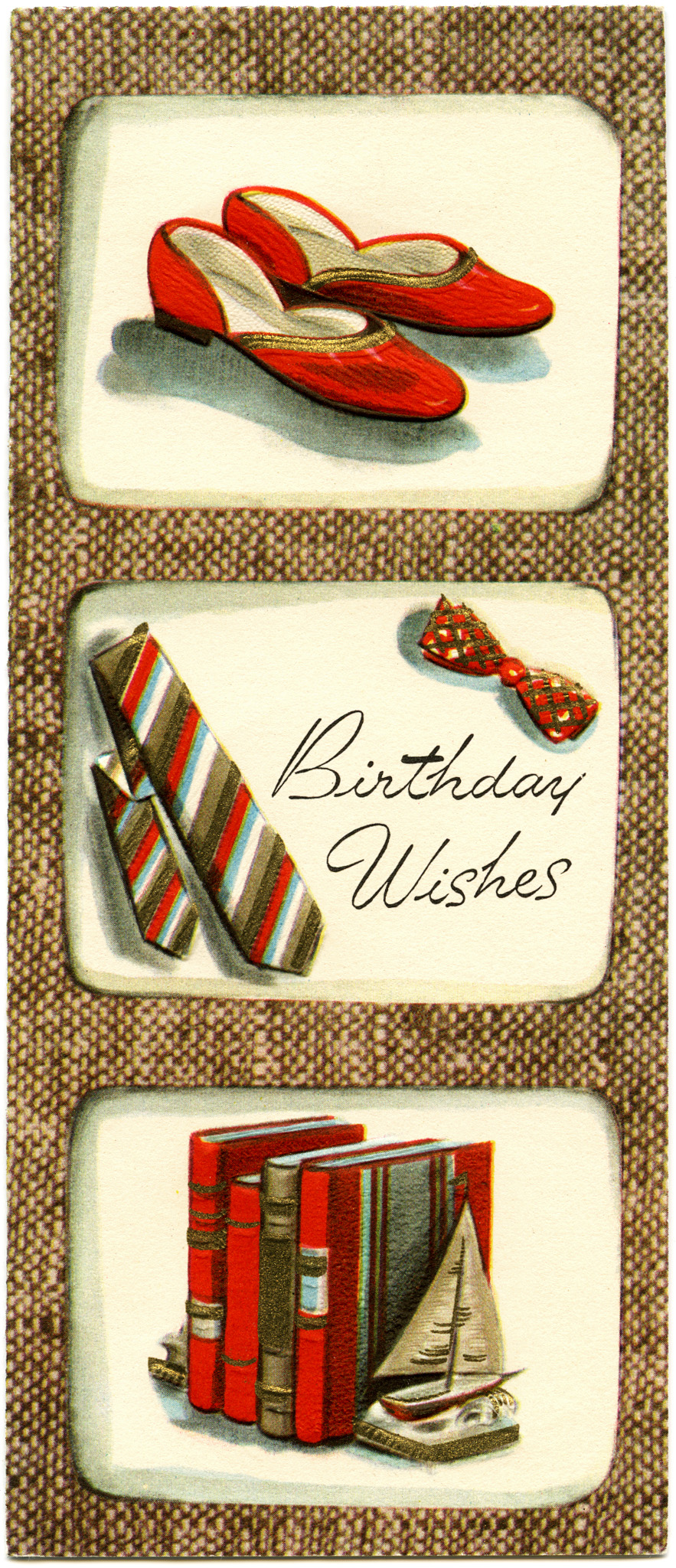 Vintage Masculine Birthday Card