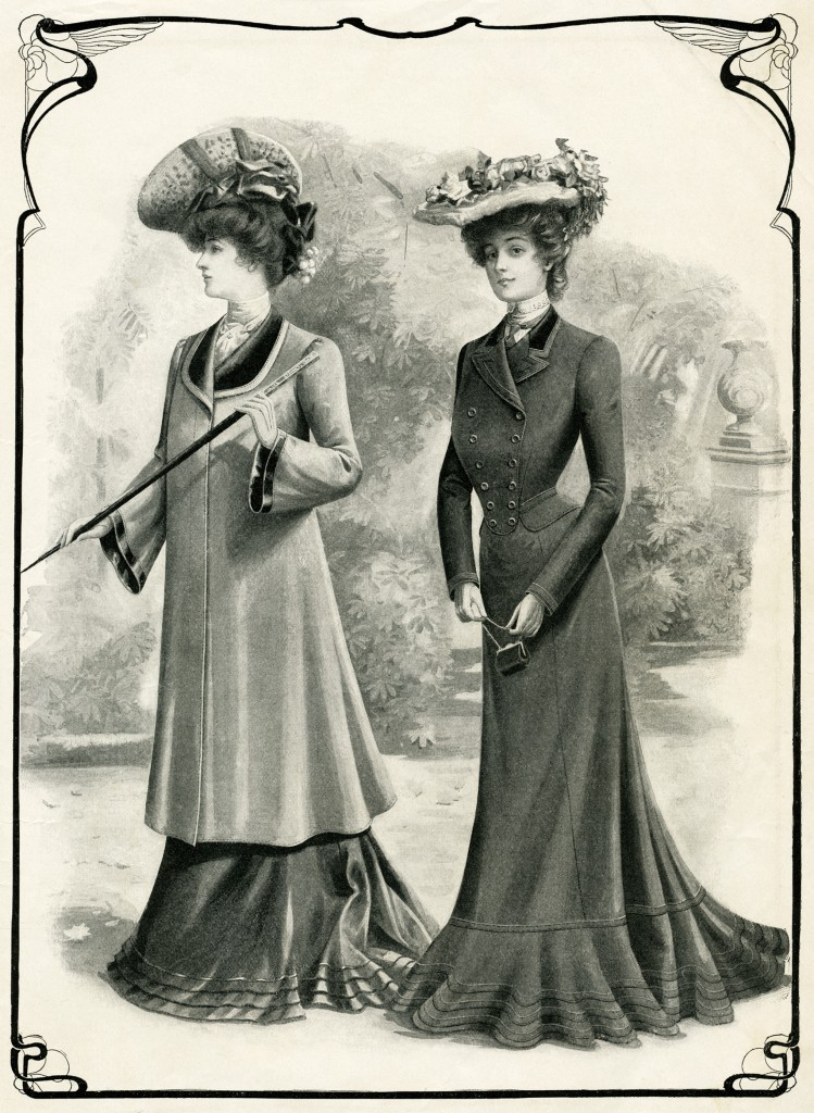 victorian ladies coats fashion plate