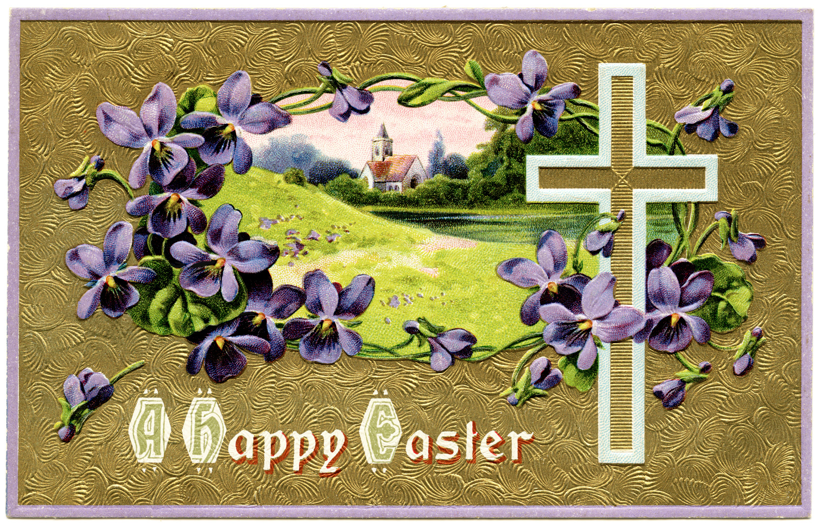 Vintage christian easter postcards old design shop blog - Christian easter images free ...