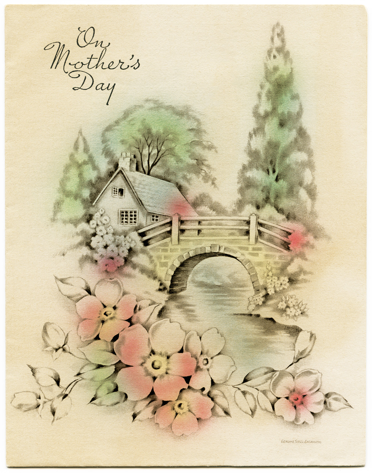 Greeting cards old design shop blog part 3 vintage mothers day scenic card kristyandbryce Images