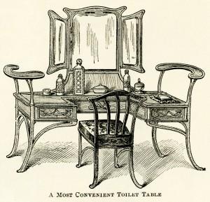 antique furniture illustration,antique toilet table,free digital clipart,free Victorian furniture image,old fashioned furniture,vintage make up table