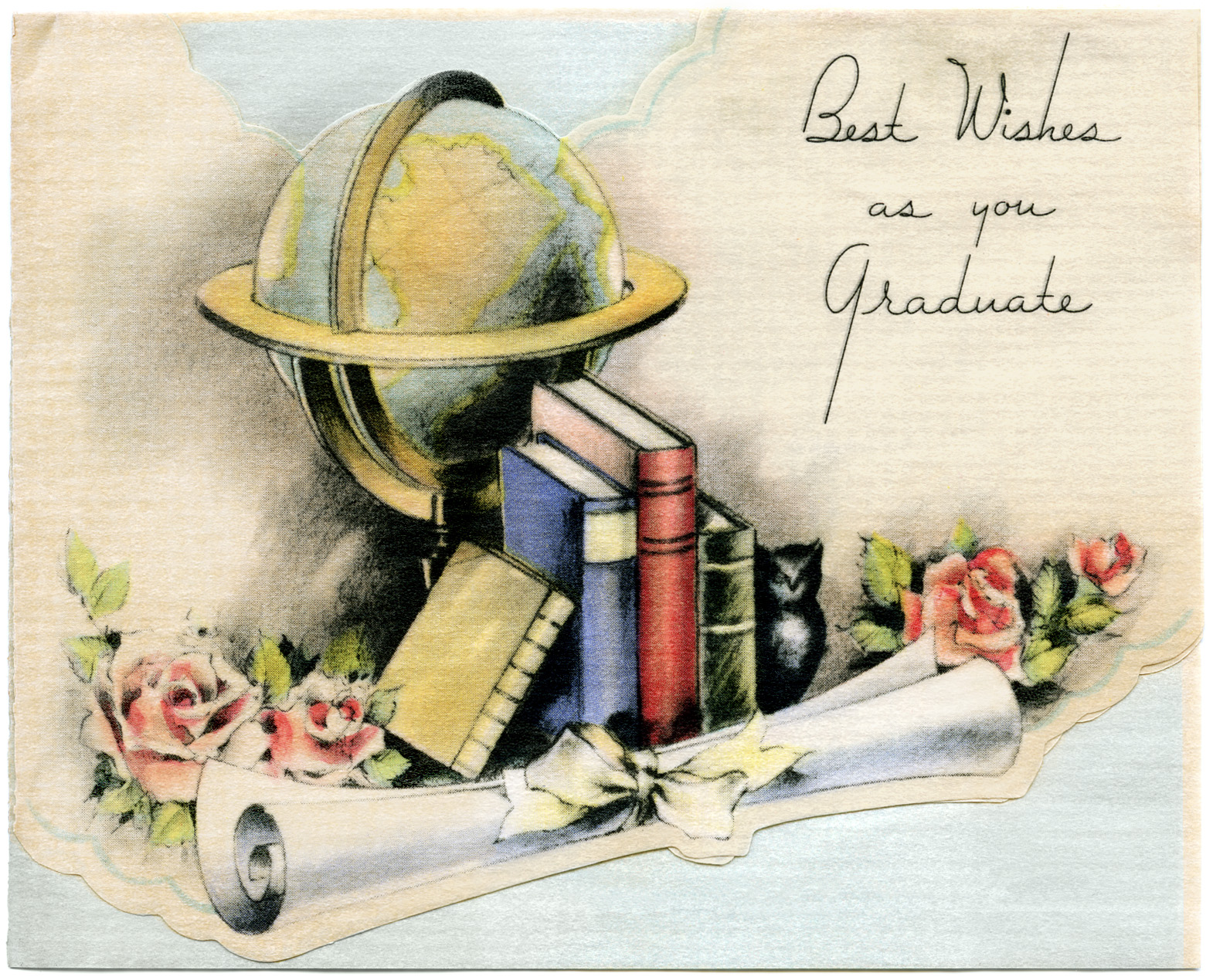 Vintage Graduation Card Old Design Shop Blog