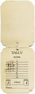 Free vintage clip art bridge tally card