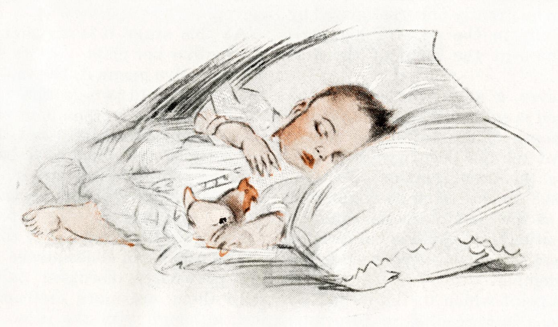 how to draw a boy sleeping