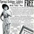 Free vintage clip art image Bedell fashion catalogue womans fashion magazine ad