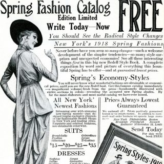 Free vintage clip art image Bedell fashion catalogue womans fashion magazine ad