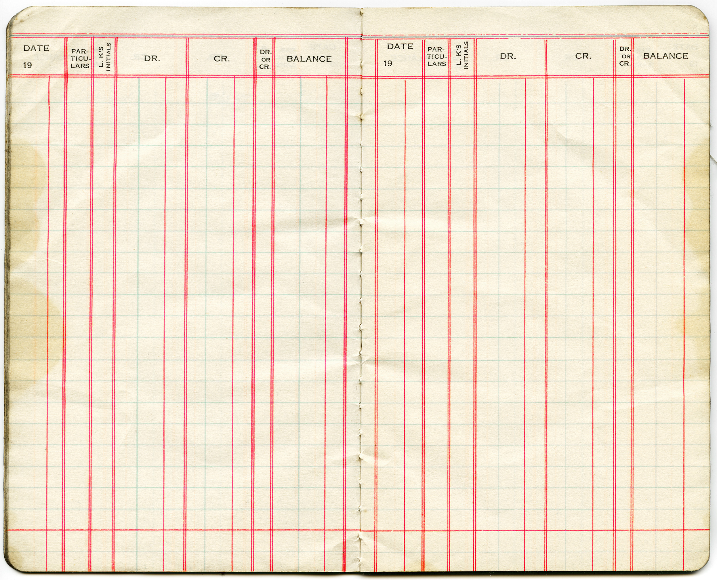 Less Grungy Accounting Pages: Free Vintage Clip Art Ledger Account Page  Printable Ledger Pages