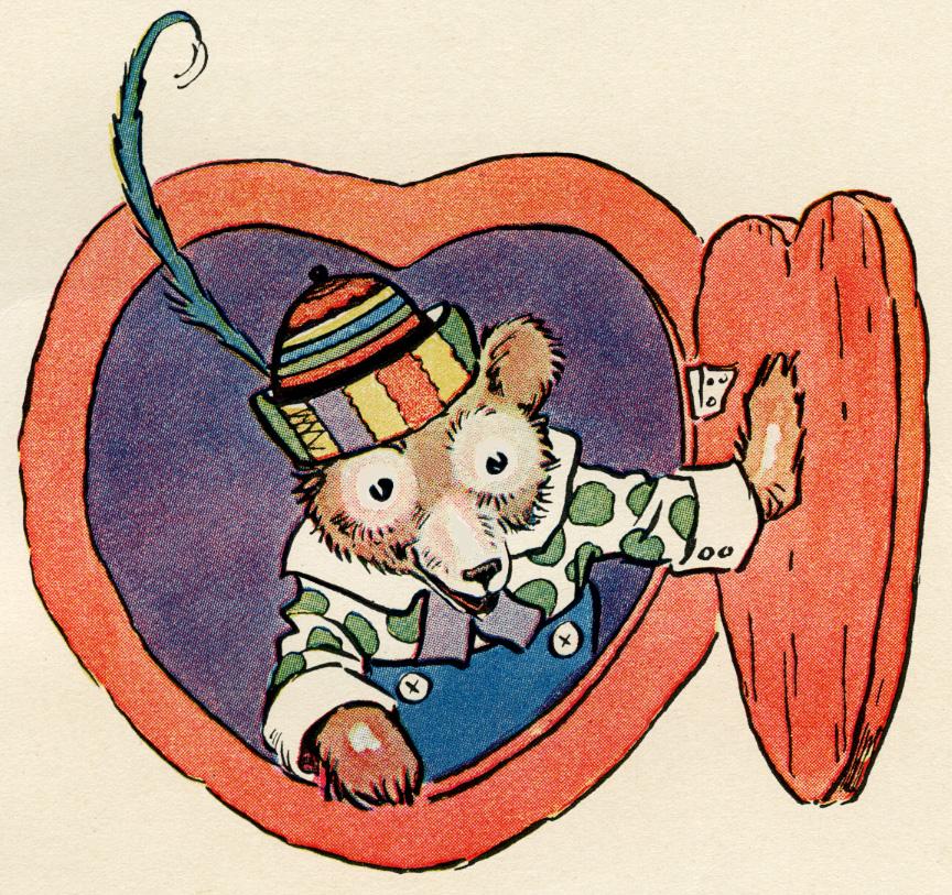 little brown bear picture, free vintage image, free printable, vintage storybook bear, digital image for graphic design, copyright free vintage image, stroybook page, johnny gruelle illustration, antique clipart