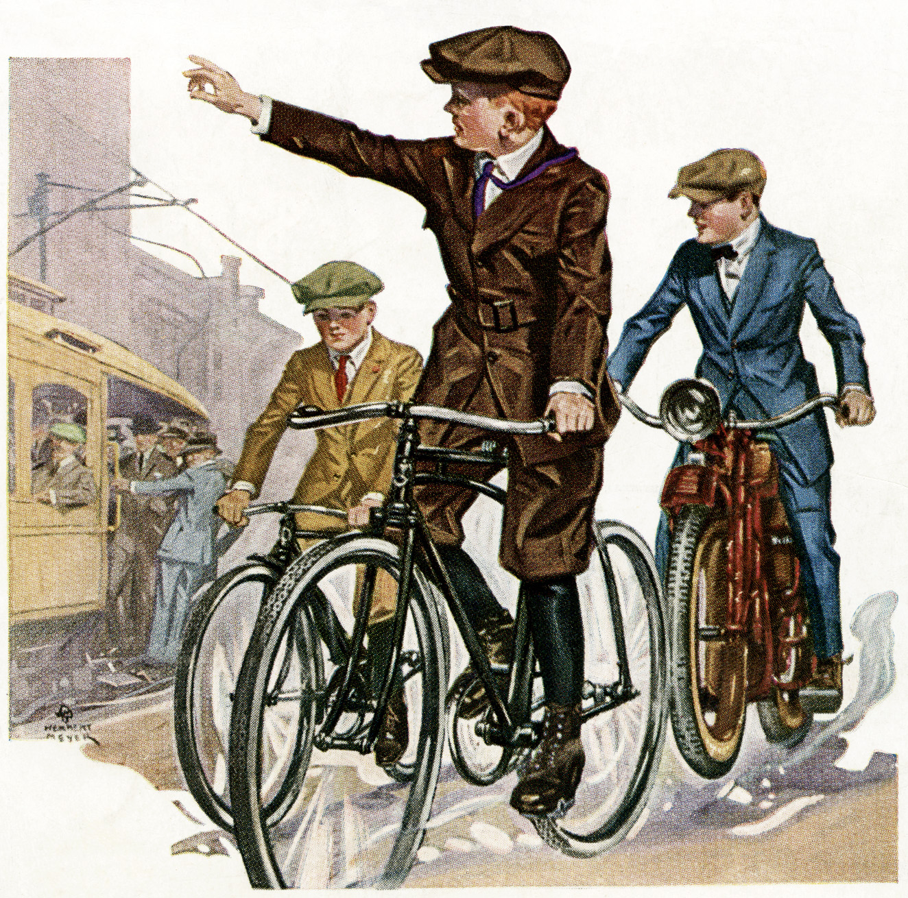 vintage bicycle image, free printable, free vintage clipart, free vintage image, old picture boy riding bike, antique bicycles, vintage masculine image, free public domain image, free graphic design resource